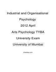 (www.entrance-exam.net)-University of Mumbai Industrial and Organisational Psychology Sample Paper 1