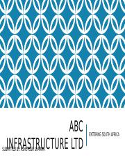 ABC Infrastructure Ltd's South African Venture.pptx