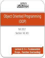 OOP-lec6-C++ Scope-FunctionOverloading.pptx