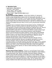 Kamal Docx A Identitas Buku Judul Buku Dear Nathan Penerbit Best Media Tahun Terbit Maret 2016 Jumlah Halaman 528 Hlm Nomor Edisi Isbn Course Hero