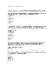 PHYSICS 13 REVIEW PROBLEMS