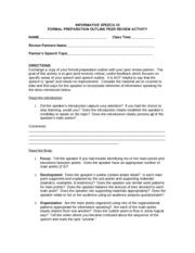outline peer review INFORMATIVE SPEECH2