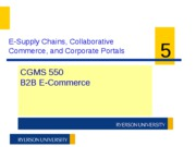CGMS550 W11 Week 5 - E-Supply Chains pt 1
