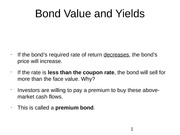 Bond Value and Yields 2
