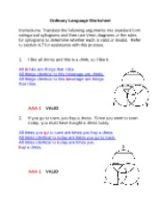 Ordinary Language Worksheet Answers_ PHIL 262