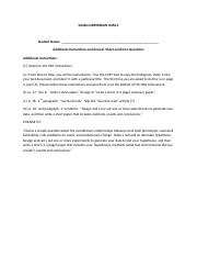 SimBio DARWINIAN SNAILS additional instructions answer sheet and extra questions