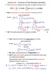 L13-Function of Two Random Variables and Jointly Gaussian Random Variables