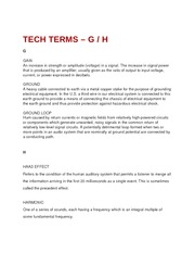 Tech Terms - G and H