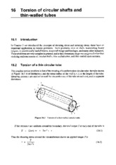 TORSION OF CIRCULAR SHAFTS AND TUBES
