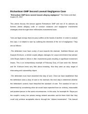 Negligence Case Assignment.docx