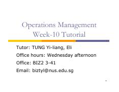 Tutorial Week 10 OM