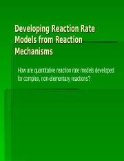 reaction mechanism modeling.ppt