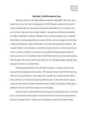 """Big Daddy"" Child Development Essay"
