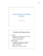 Lec 6_Measurement and Sampling Methods PDF