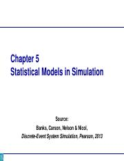 Chapter 05_Statistical models in simulation