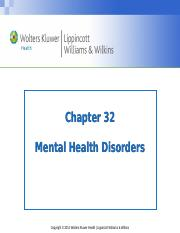 PPT_Chapter_32 Mental Health Disorders_Student Copy copy.ppt