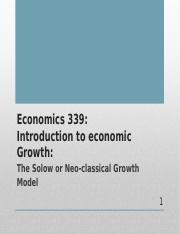 339 Solow Neoclassical Growth Model 2015