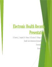 Electronic Health Records Presentation
