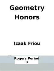 Geometry Honors