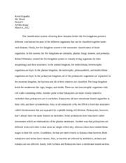 ap bio classification essay