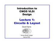 LECTURE 1 CMOS CIRCUITS AND LAYOUT