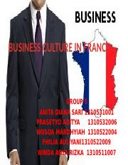 BUSINESS CULTURE IN FRANCE[group 5].pptx