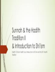 Session+9+_6_+Sunnah+_+the+Hadith+Tradition+II+_+Shiism