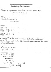 Solve Quadratic Equation by Completing Square