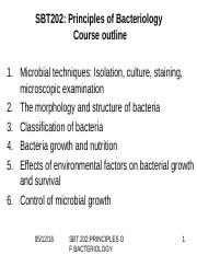 1a. introduction Importance of prokaryotes