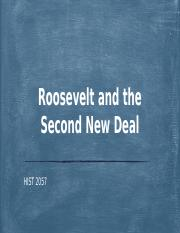 Roosevelt and the Second New Deal