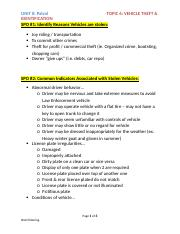 Unit 8 - Topic 6 Vehicle Theft & Identification SPOs.docx