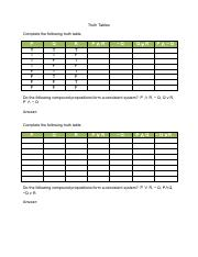 5-Truth-Tables-Worksheet