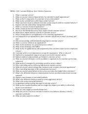 MRKG 1301 Customer Relations Test 1 Review Questions-1.docx