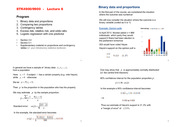 Binary Data and Proportions Notes