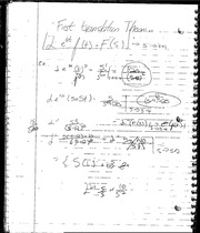 first translation Theorem Notes