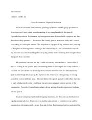 Group Presentation Chapter 9 Reflection.docx