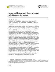 Male athletes thinness
