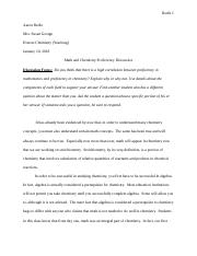 AR- Honors Chemistry—Math and Chemistry Proficiency Correlation Discussion.docx