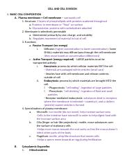 Anatomy~ cell & cell division notes.docx