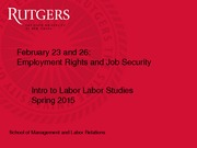 Employment Rights and Job Security Slides