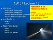 AS101 Lecture 13