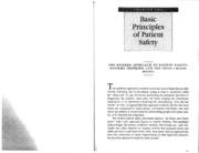 Patient Safety - Basic Principles of Patient Safety