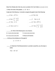 PRACTICE problems for test sections 1.5, 3.1-3.5, 7.1-7.3(1) (1)
