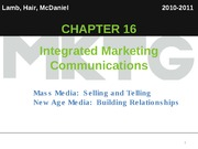 Chapter 16_Integrated Marketing Communication