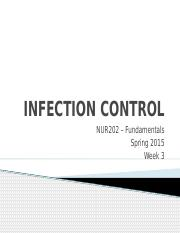 Week 3 - Infection Control