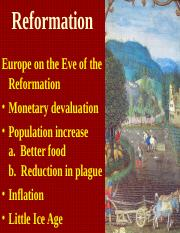 Reformation & Absolutism