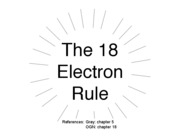 The 18 Electron Rule