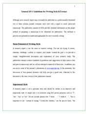 General APA Guidelines for writing style and format1FINAL