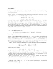 Homework 9 Solution Fall 2013 on Real Analysis
