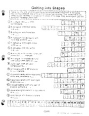 answer key-getting into shapes